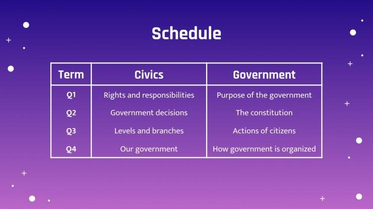 Plantilla de presentación Educación para la ciudadanía para primaria