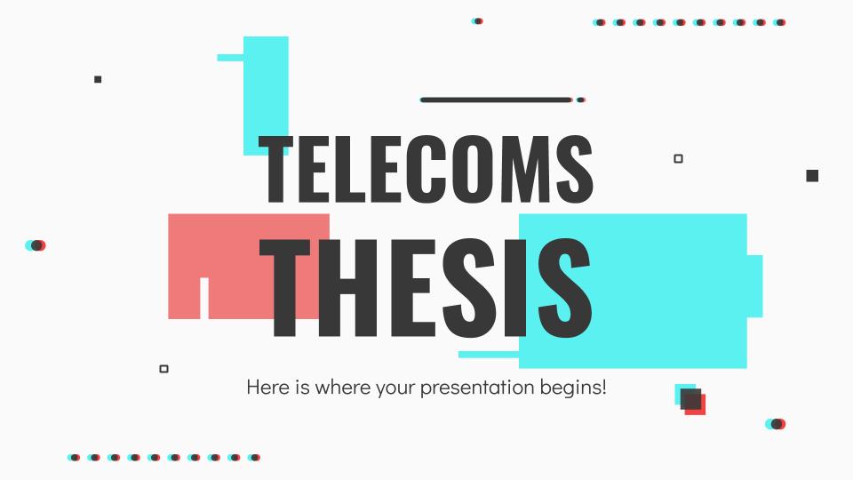 Thèse sur les télécommunications : Modèles de présentation