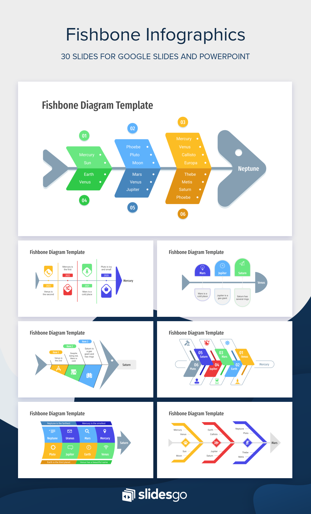 Free Fishbone Infographics For Google Slides And Powerpoint
