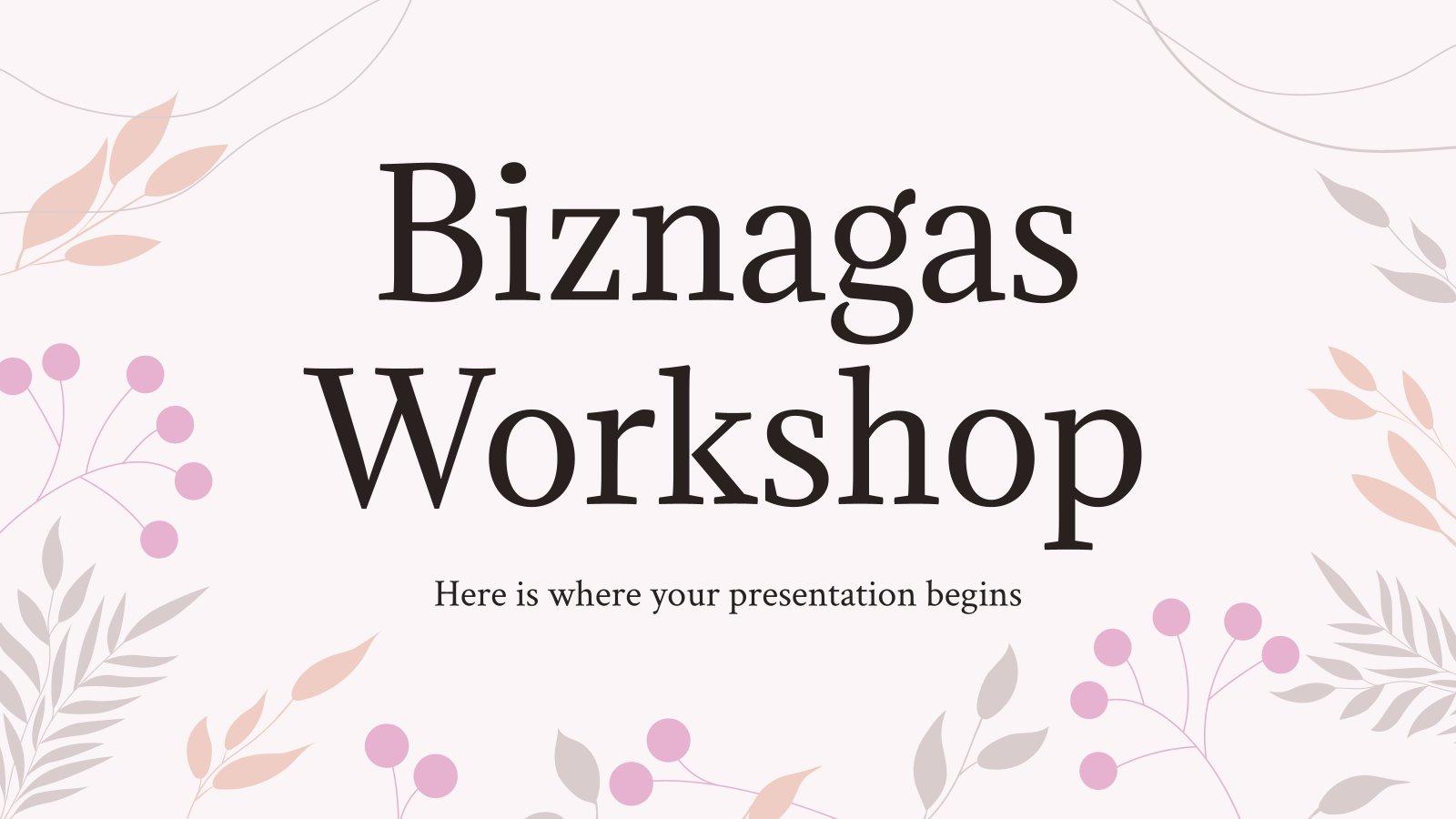 Biznagas Workshop Präsentationsvorlage