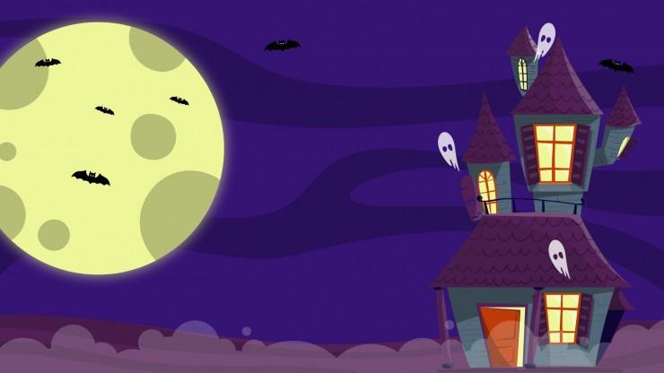 Plantilla de presentación Fondos de Halloween para Zoom