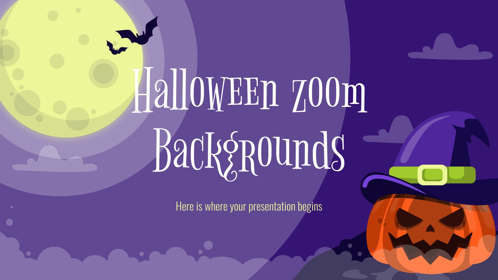 Halloween Zoom Backgrounds presentation template