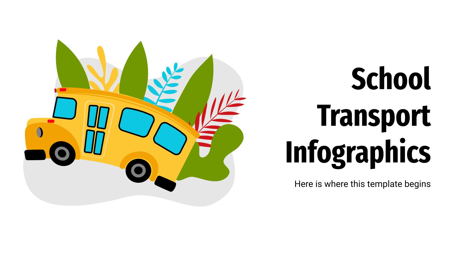 School Transport Infographics presentation template