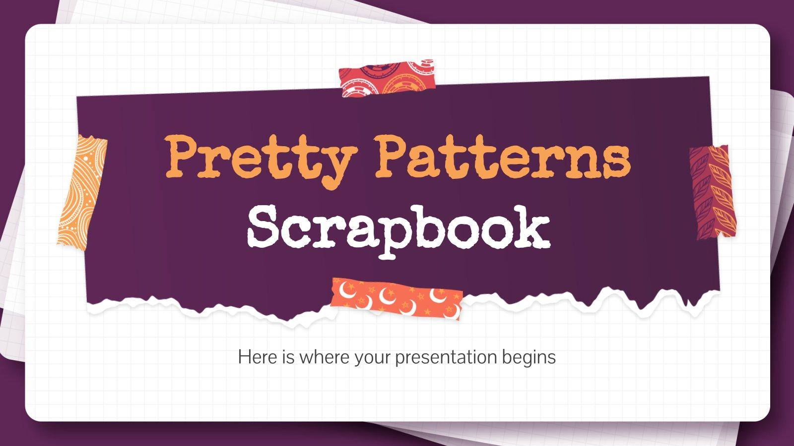 Scrapbooking avec des jolis motifs : Modèles de présentation