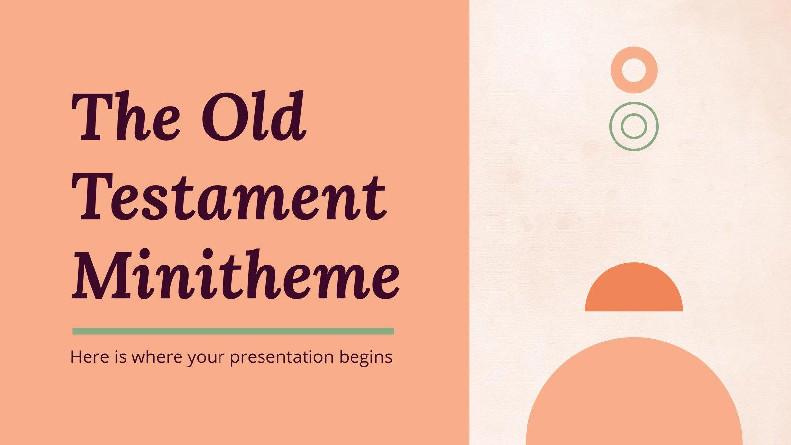 The Old Testament Minitheme presentation template