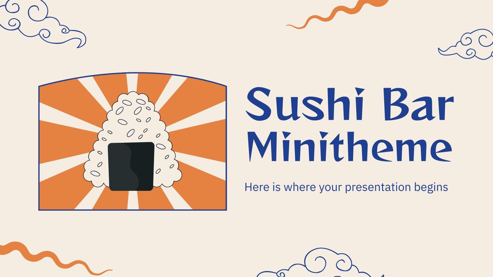 Minithème : Bar à sushis : Modèles de présentation