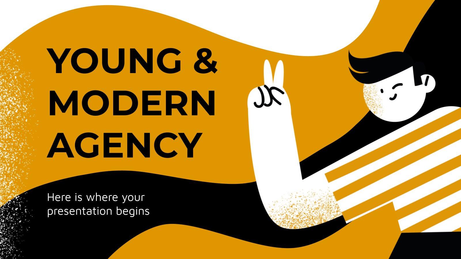 Agence jeune et moderne : Modèles de présentation