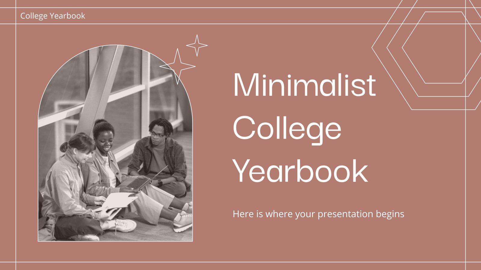 Minimalist College Yearbook presentation template