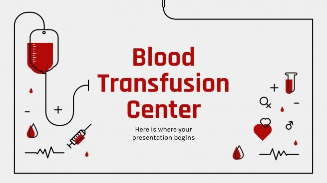 Blood Transfusion Center presentation template