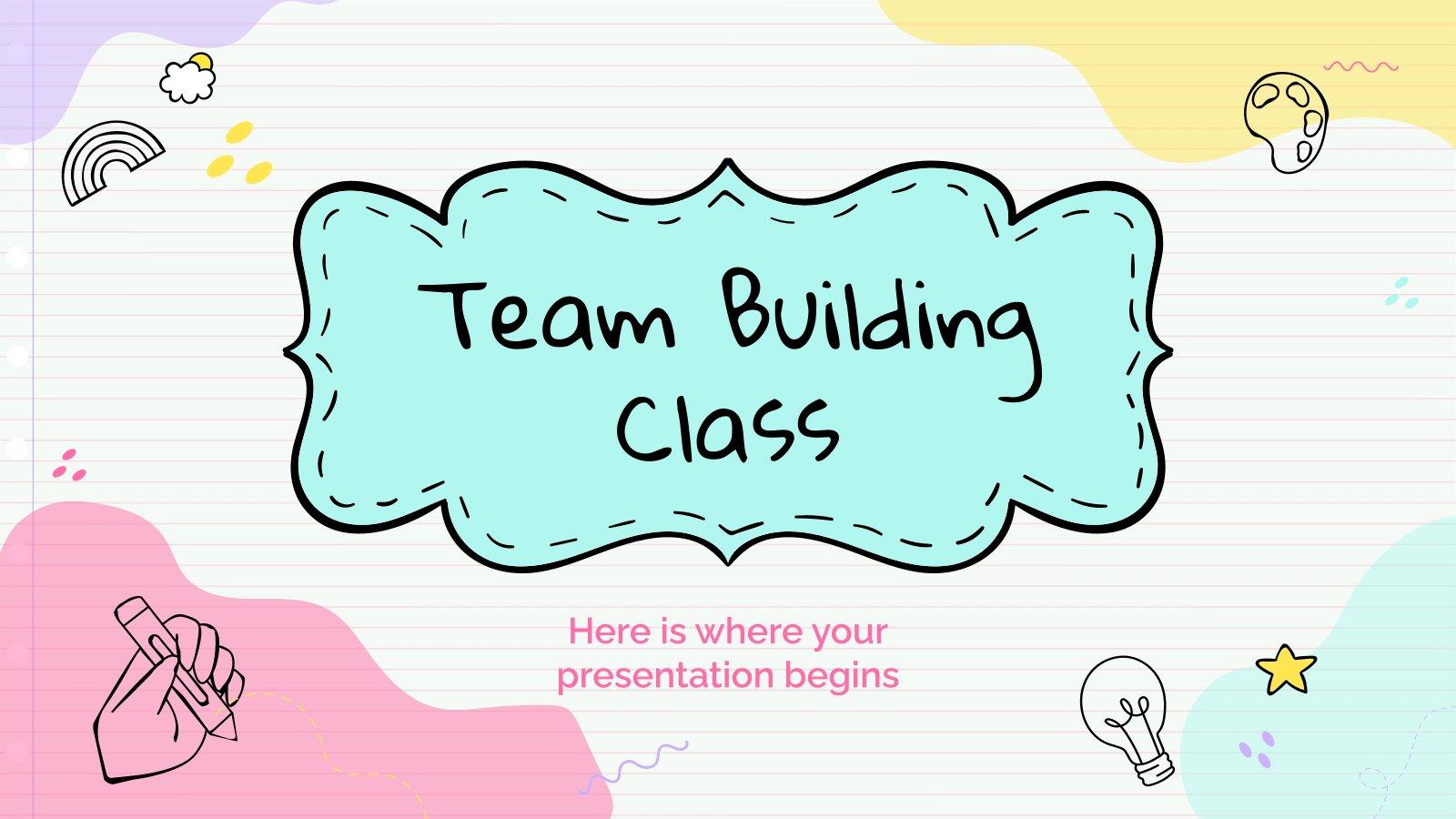 Modelo de apresentação Aula de trabalho em equipe para o ensino básico