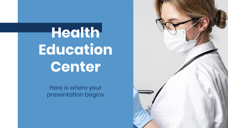 Health Education Center presentation template