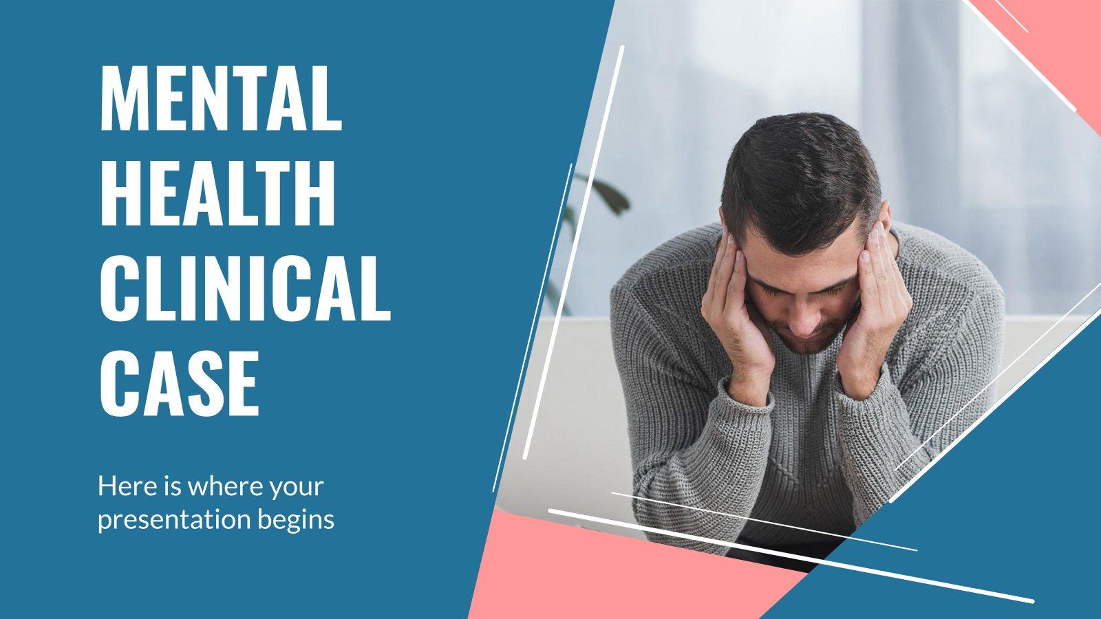 Klinischer Fall für psychische Gesundheit Präsentationsvorlage