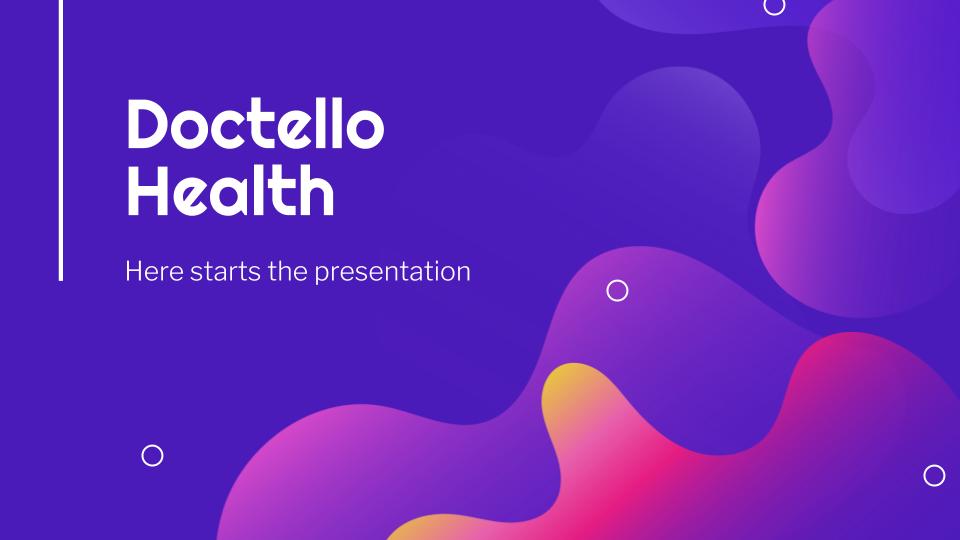 Doctello Health presentation template