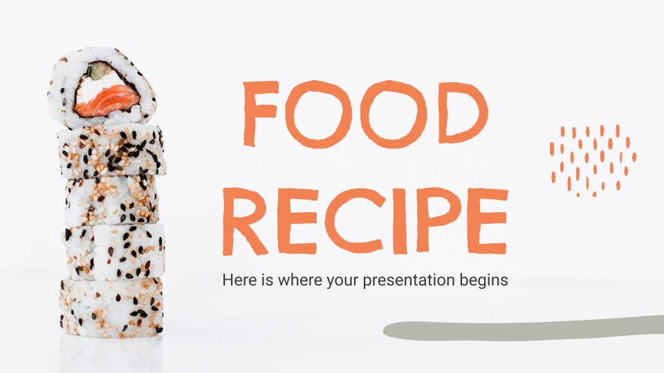 Food Recipe presentation template