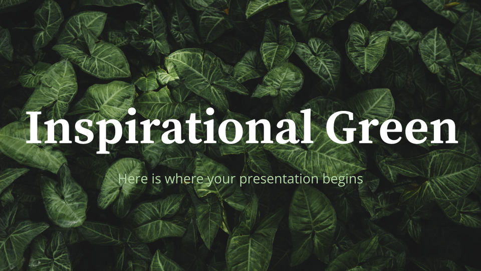 Inspirational Green presentation template