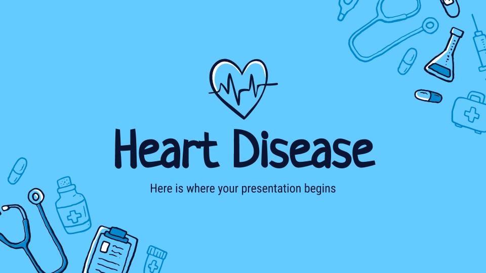Herzkrankheit Präsentationsvorlage