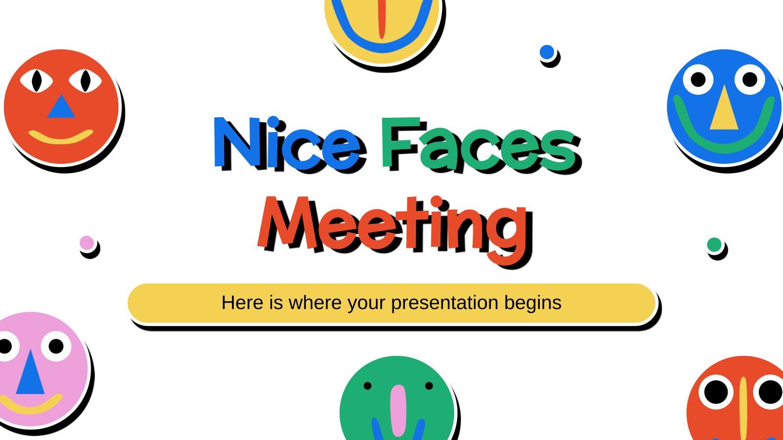 Plantilla de presentación A la reunión con buena cara
