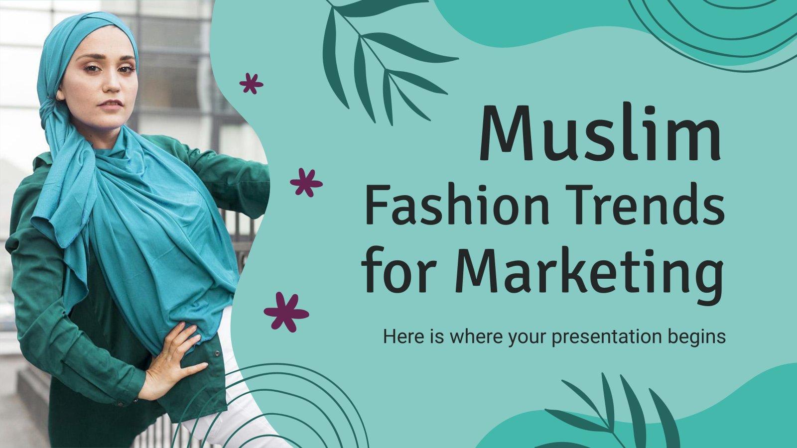 Plantilla de presentación Tendencias de moda en el mundo musulmán
