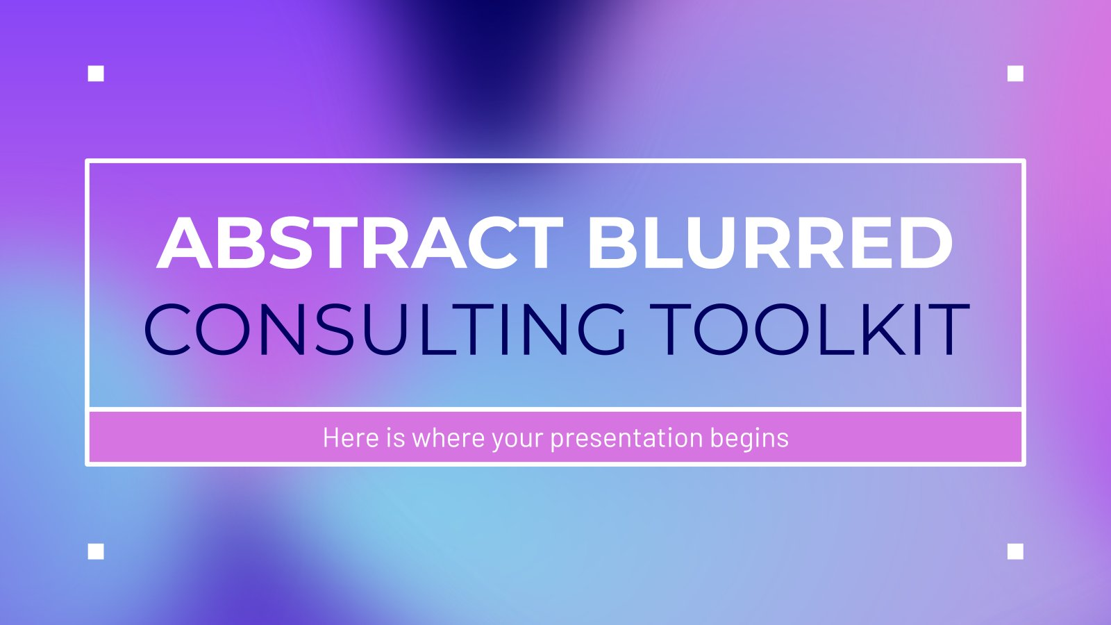 Abstract Blurred Consulting Toolkit presentation template