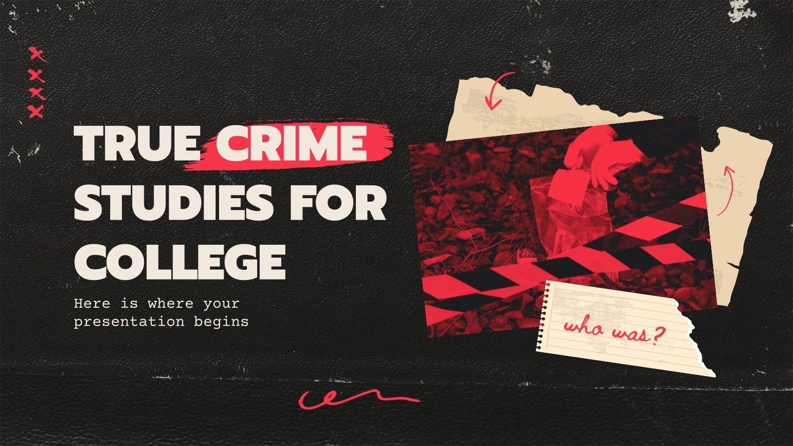 Modelo de apresentação Estudos de crimes verdadeiros para a faculdade
