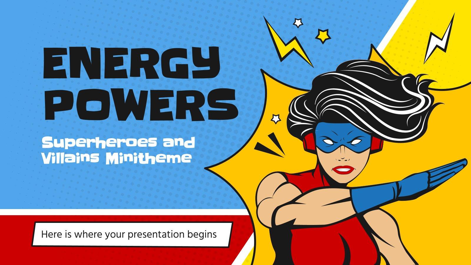 Plantilla de presentación Minitema: Superhéroes y villanos