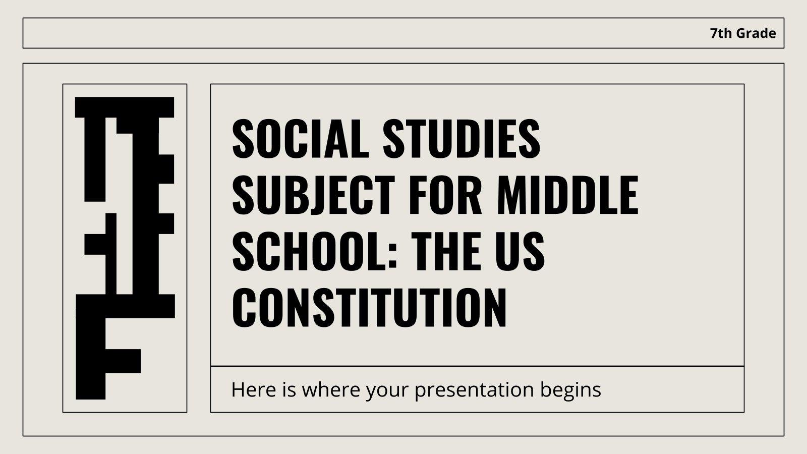 Sozialkunde für die 7. Klasse: Die US-Verfassung Präsentationsvorlage