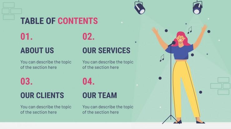 Creative Talent Agency presentation template