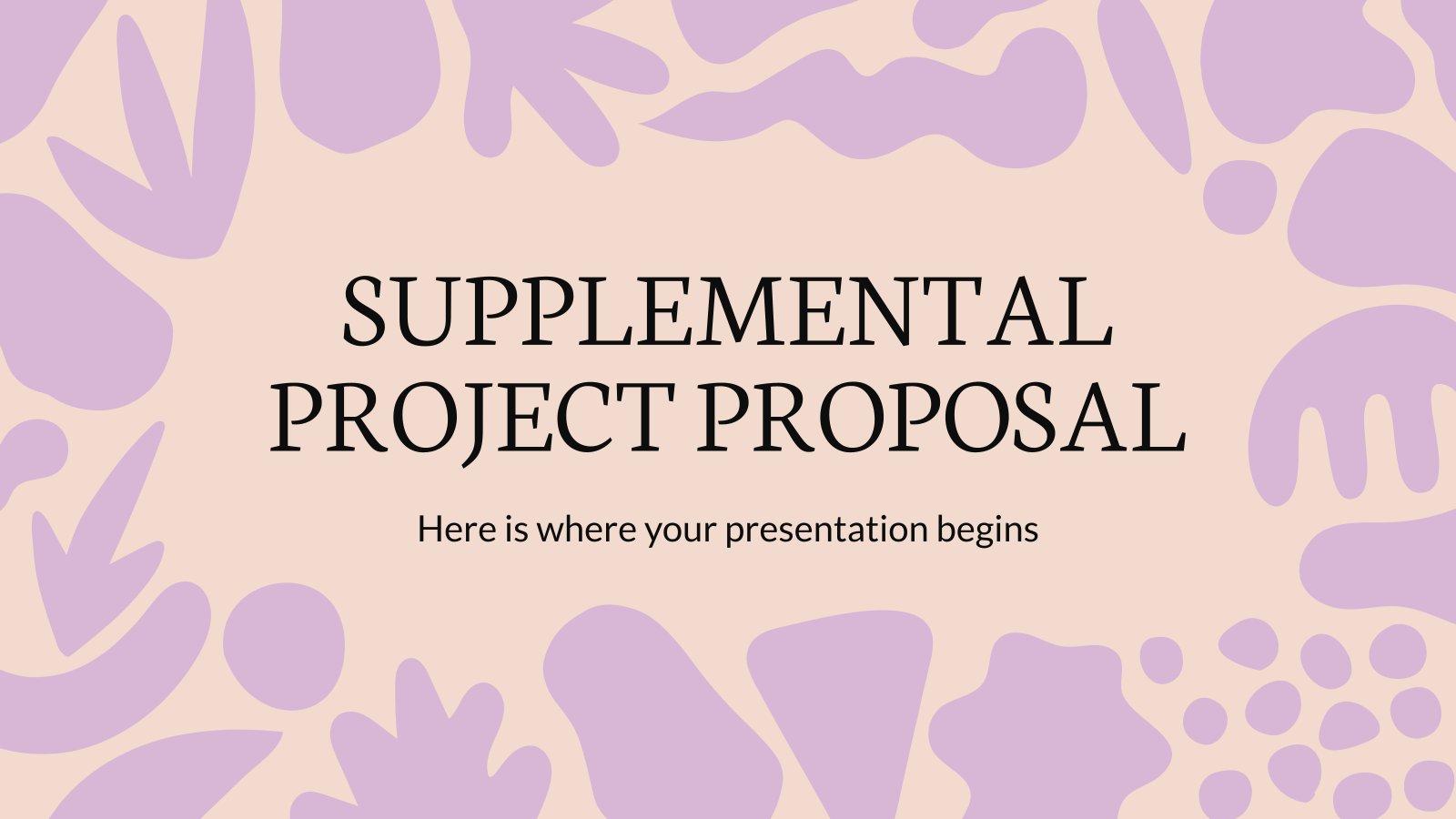 Modelo de apresentação Proposta de projeto suplementar