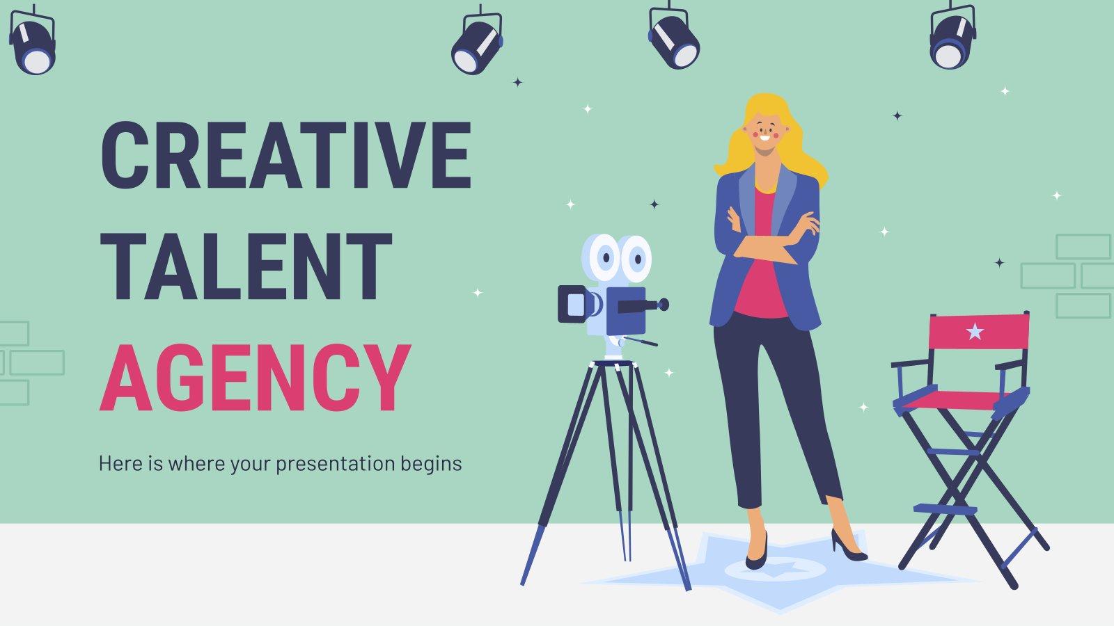 Agence de talents créatifs : Modèles de présentation