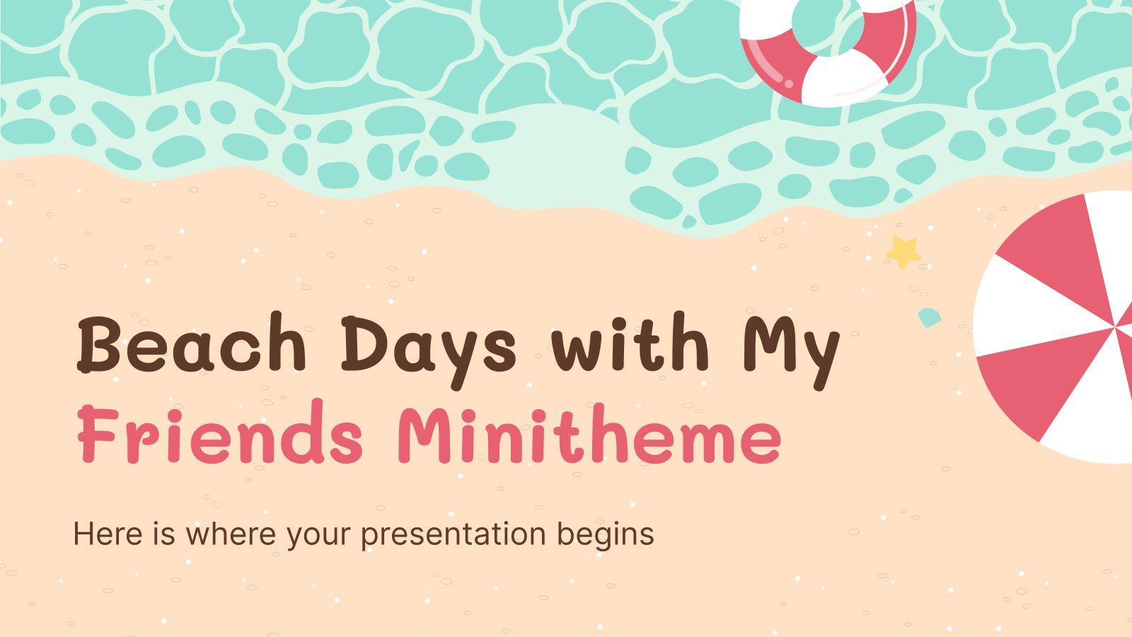 Minithema: Strand mit meinen Freuden Präsentationsvorlage