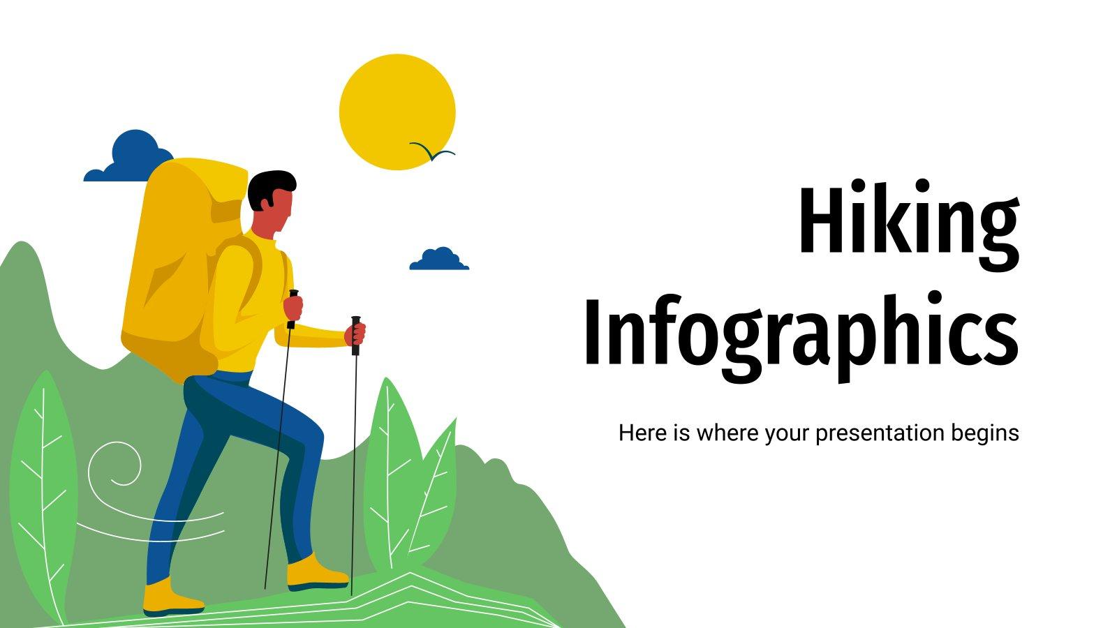 Hiking Infographics presentation template