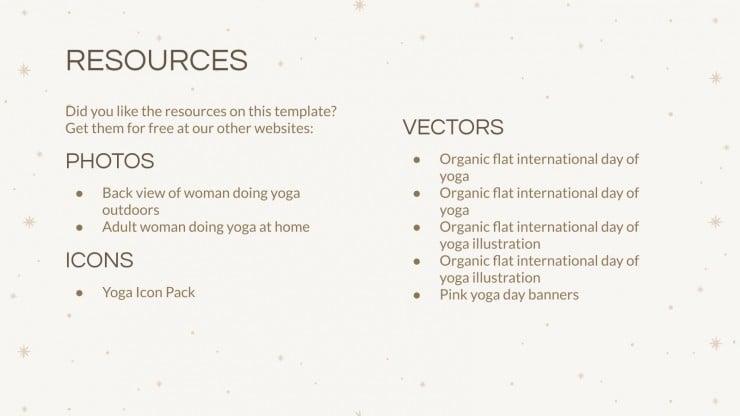 Erholsamer Yoga Workshop Präsentationsvorlage