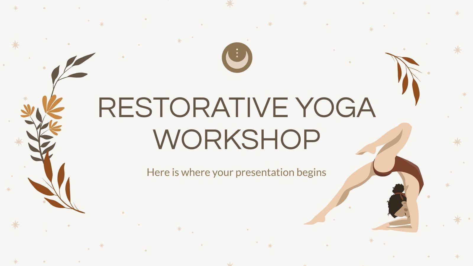 Cours de yoga restauratif : Modèles de présentation