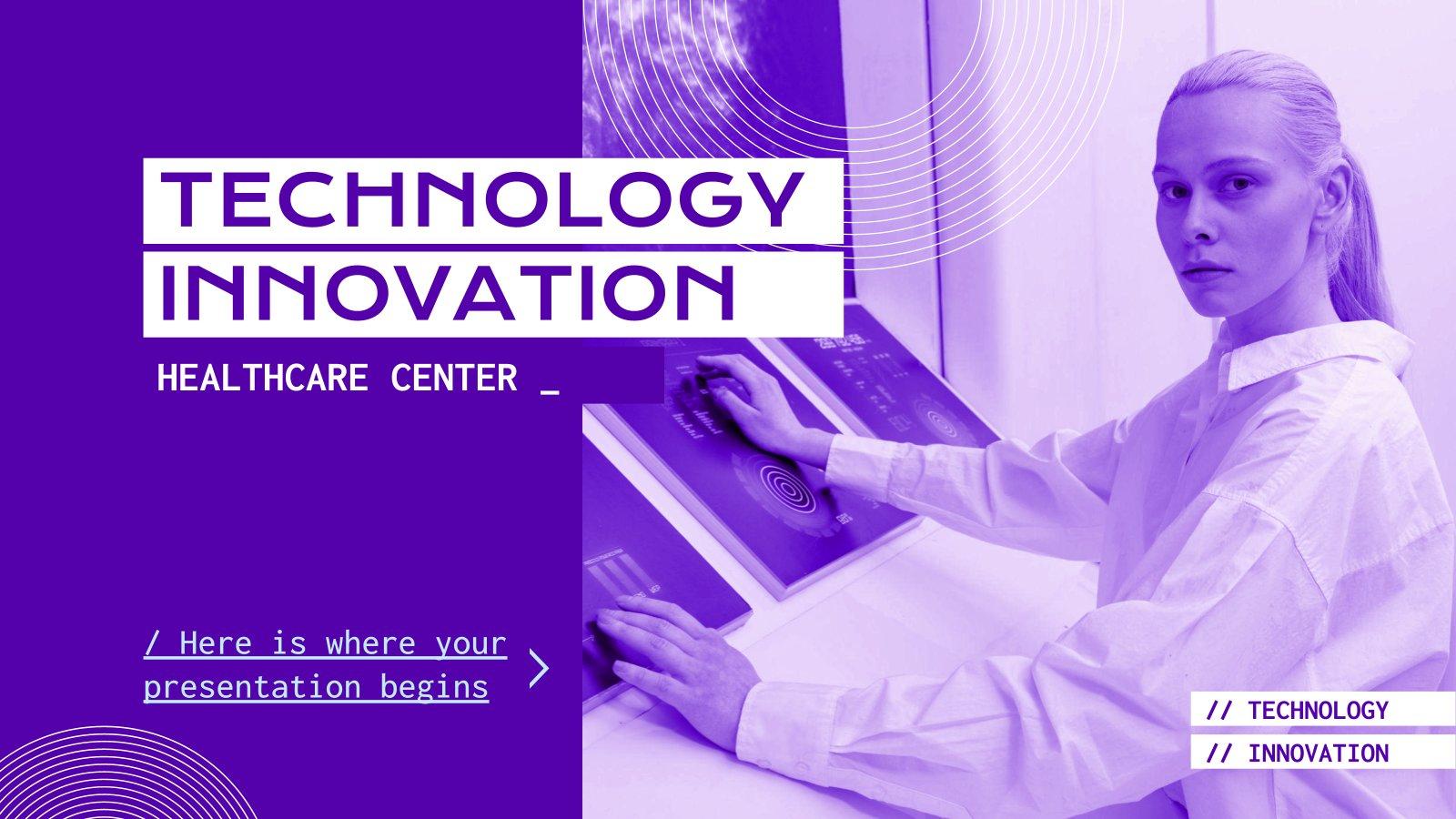 Modelo de apresentação Centro de saúde e inovação tecnológica