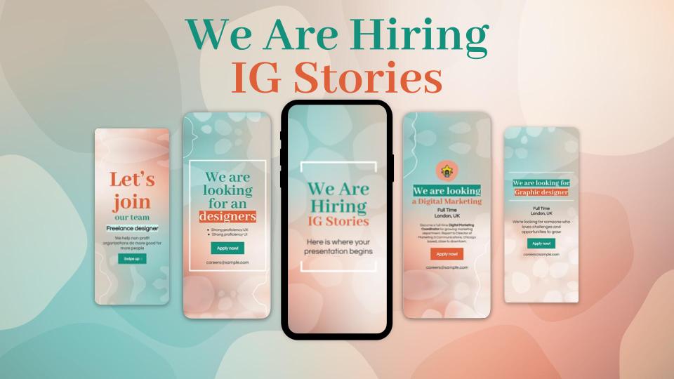 Wir suchen dich! IG Stories Präsentationsvorlage