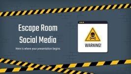Plantilla de presentación Escape room