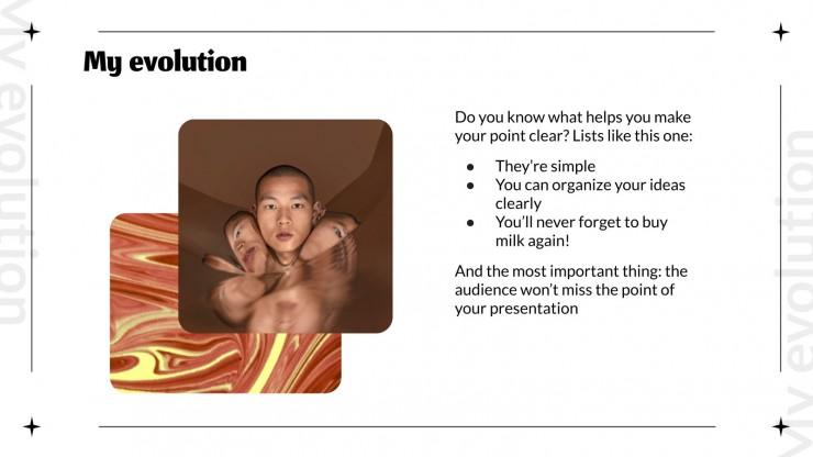 Portfolio et plan marketing cool : Modèles de présentation