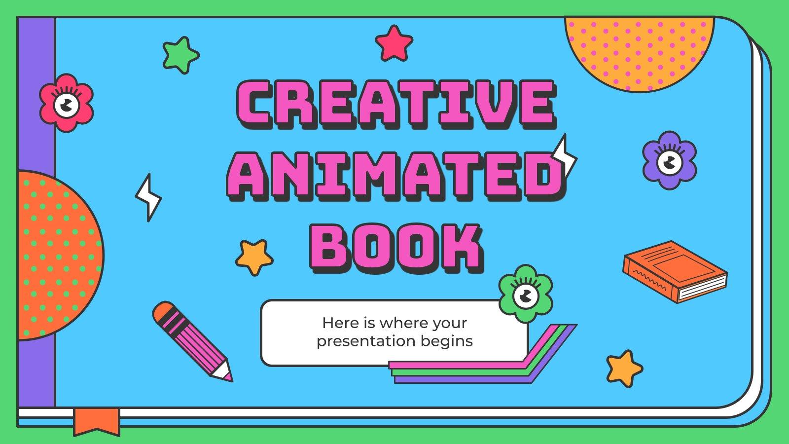 Plantilla de presentación Libro animado creativo