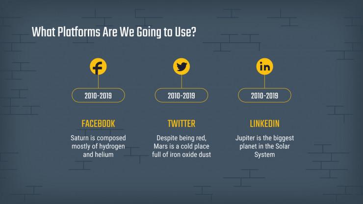 Fluchtraum Social-Media Präsentationsvorlage