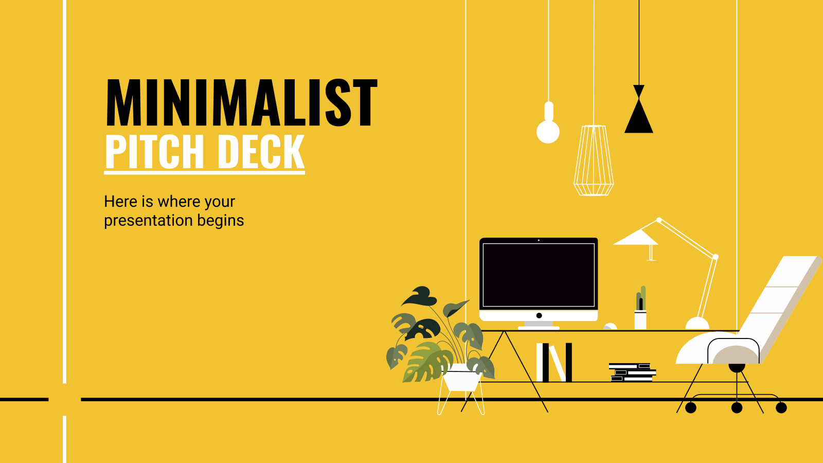 Minimalist Pitch Deck presentation template