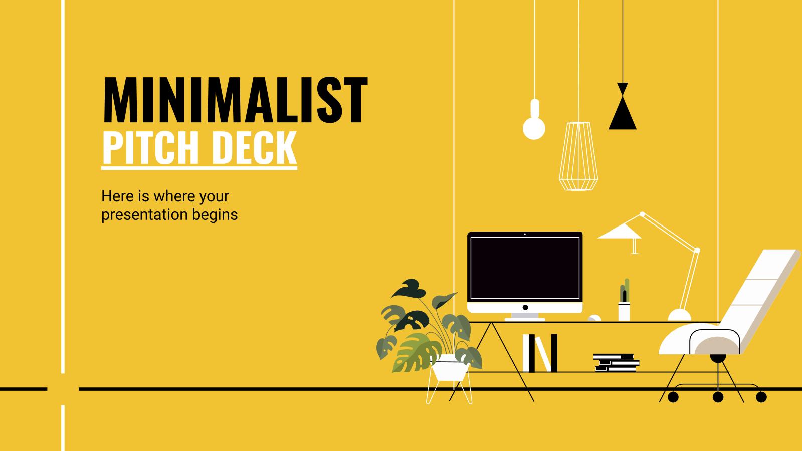 Plantilla de presentación Pitch deck minimalista