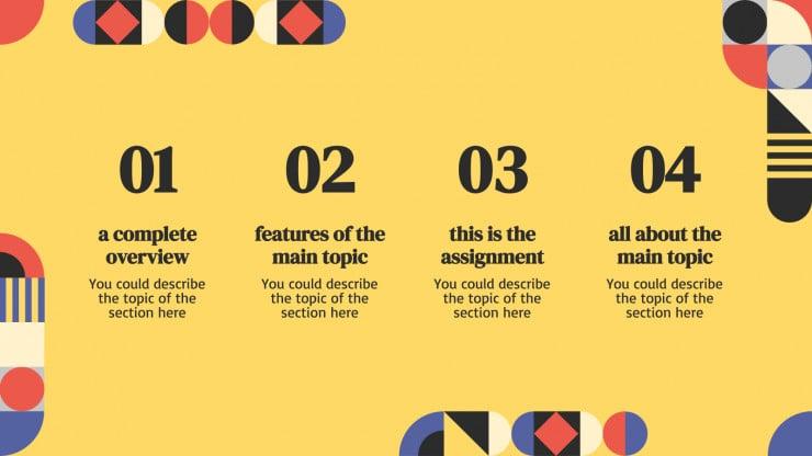 English Lesson presentation template