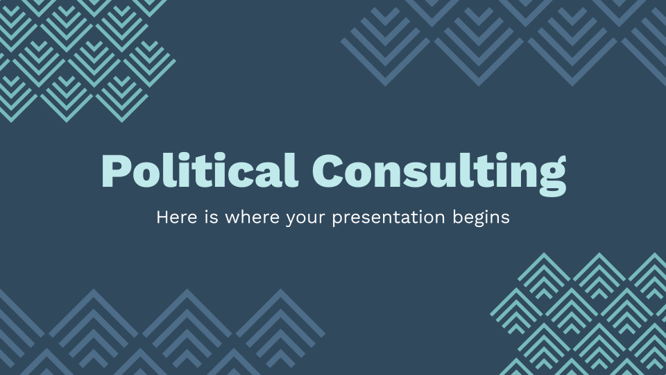 Political Consulting presentation template