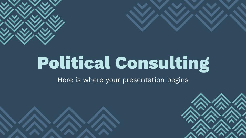 Cabinet de conseil en politique : Modèles de présentation