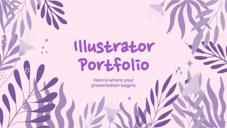 Plantilla de presentación Portafolio de ilustrador