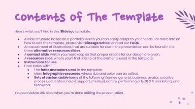 Illustrator Portfolio presentation template