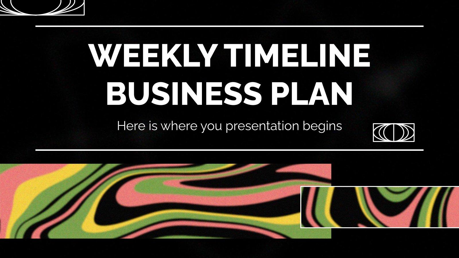 Plan d'affaires hebdomadaire : Modèles de présentation