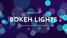 Bokeh Lights presentation template