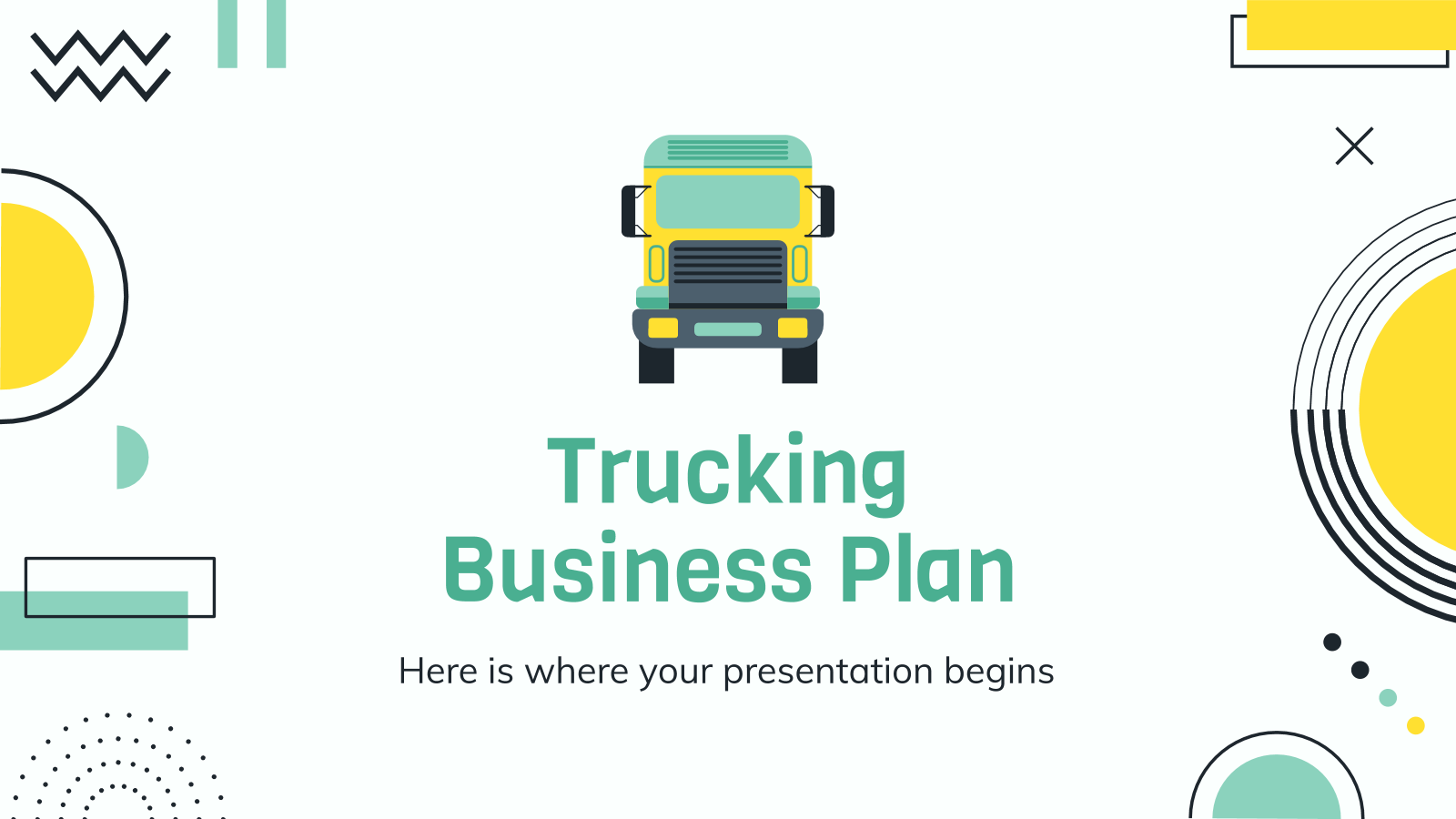 Trucking Business Plan presentation template