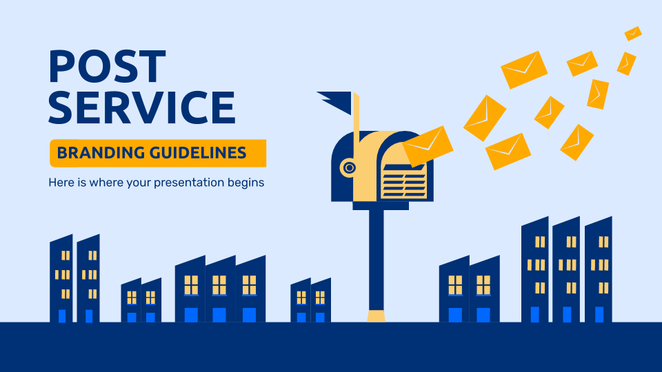 Post Service Brand Guidelines presentation template